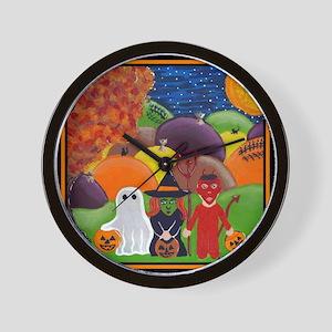 Halloween Tricksters & Treaters Wall Clock