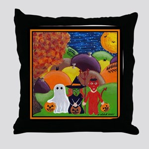 Halloween Tricksters & Treaters Throw Pillow