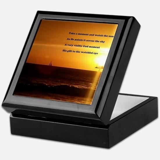 Inspirational poem Keepsake Box