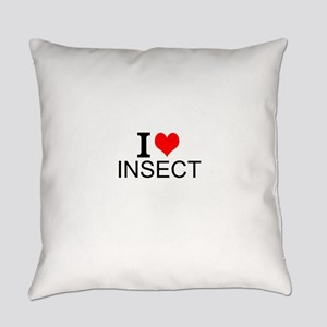 I Love Insects Everyday Pillow