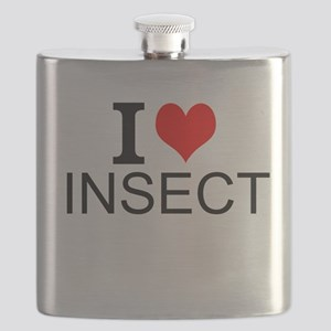 I Love Insects Flask