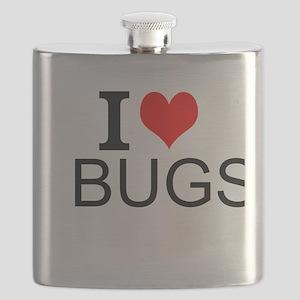 I Love Bugs Flask