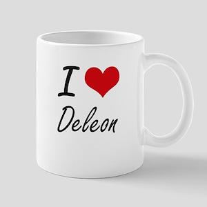 I Love Deleon artistic design Mugs