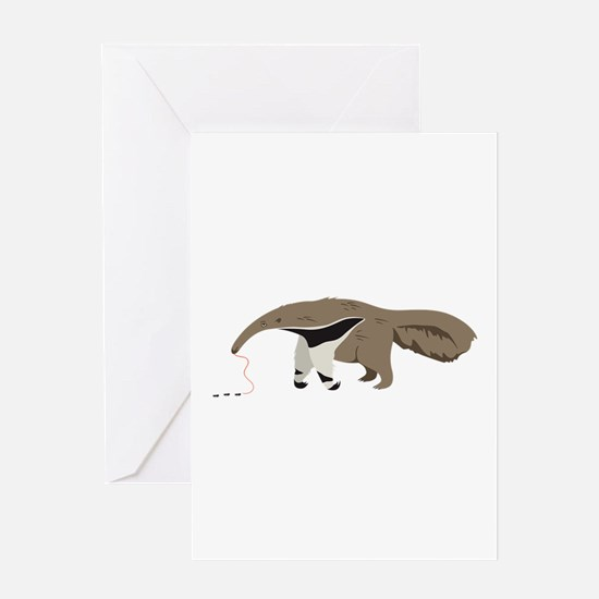 Anteater Ants Greeting Cards
