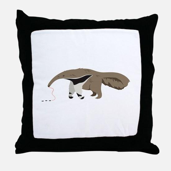 Anteater Ants Throw Pillow