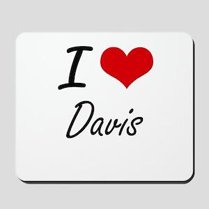 I Love Davis artistic design Mousepad