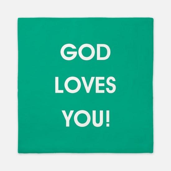 GOD LOVES YOU Queen Duvet