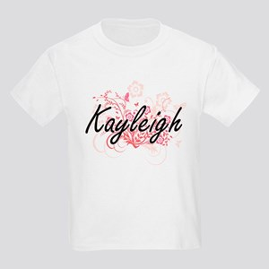 Kayleigh Artistic Name Design with Flowers T-Shirt