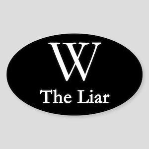 W - The Liar, Oval Sticker