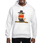 ongher in his top Hooded Sweatshirt