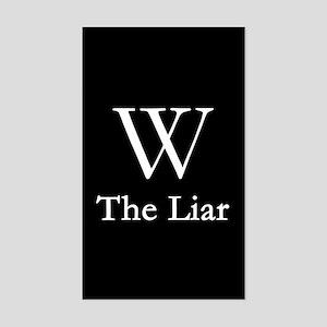 W - The Liar Rectangle Sticker