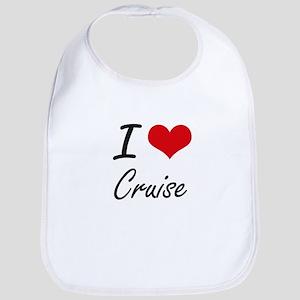 I Love Cruise artistic design Bib