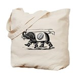 Elephant & Brain Tote Bag