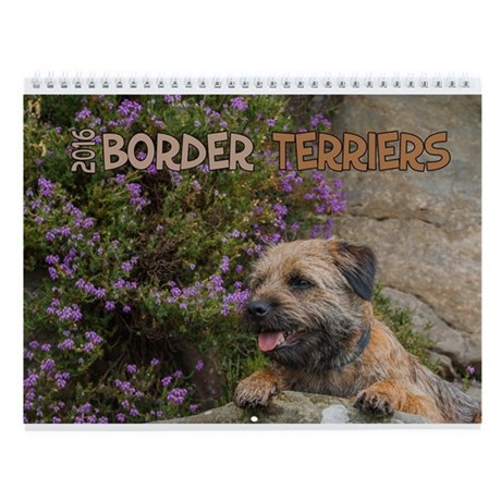 Border Terrier Dogs 2016 Wall Calendar By Moonlakedesigns