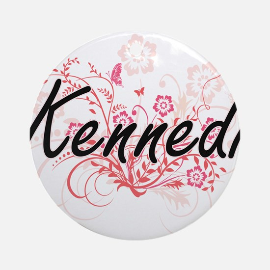 Kennedi Artistic Name Design with F Round Ornament