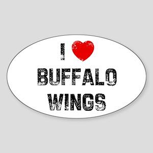 I * Buffalo Wings Oval Sticker