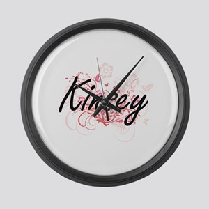Kinsey Artistic Name Design with Large Wall Clock