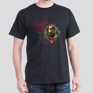 Christmas Goat | Christmas Wishes and Dark T-Shirt