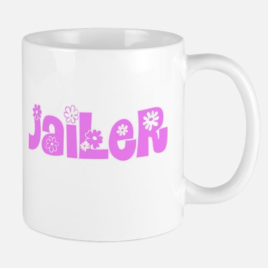 Jailer Pink Flower Design Mugs