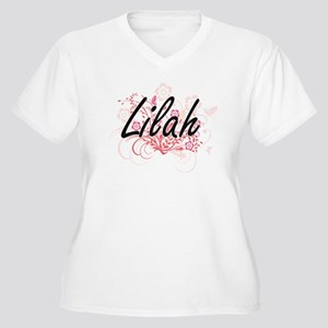 Lilah Artistic Name Design with Plus Size T-Shirt