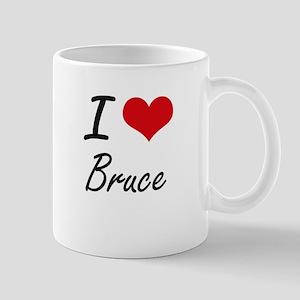 I Love Bruce artistic design Mugs
