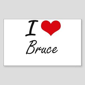 I Love Bruce artistic design Sticker