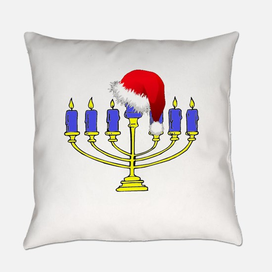Christmas Menorah Everyday Pillow