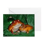 Holiday Tomato Frog Greeting Card