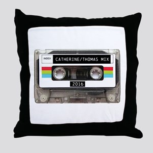 Mixtape CUSTOM label and year Throw Pillow