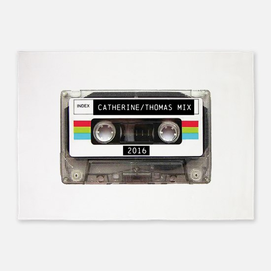 Mixtape CUSTOM label and year 5'x7'Area Rug