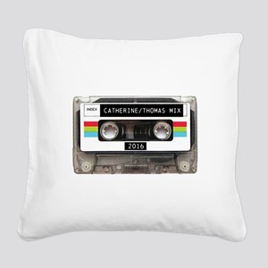 Mixtape CUSTOM label and year Square Canvas Pillow