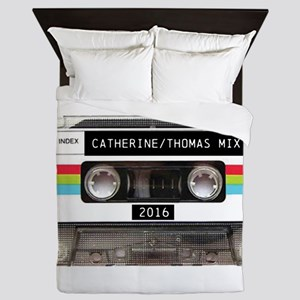 Mixtape CUSTOM label and year Queen Duvet