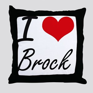 I Love Brock artistic design Throw Pillow