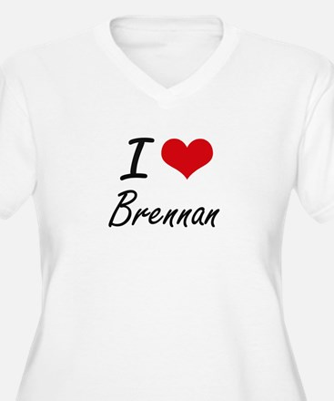 I Love Brennan artistic design Plus Size T-Shirt
