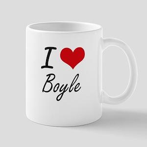 I Love Boyle artistic design Mugs