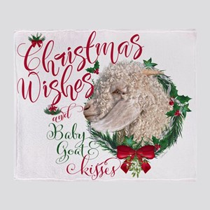 Christmas Goat | Christmas Wishes an Throw Blanket