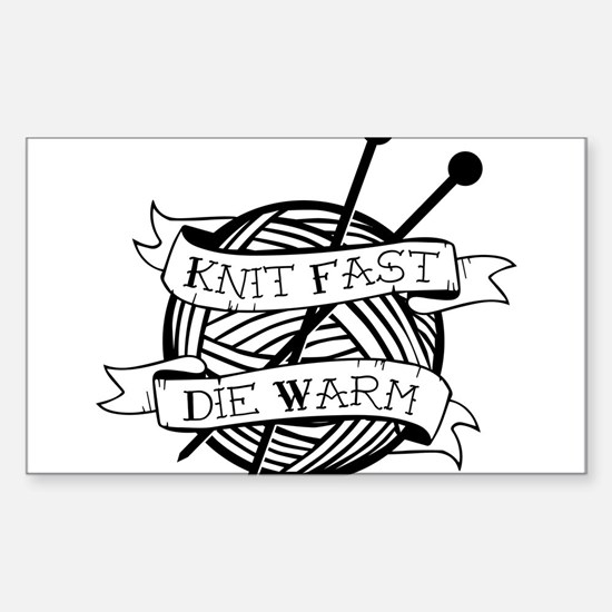 Cute Knitter Sticker (Rectangle)