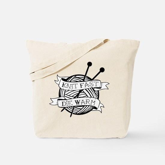 Cute Knitting Tote Bag