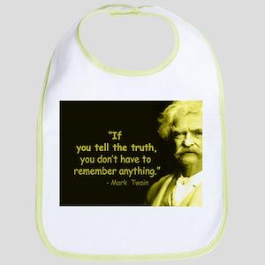 Mark Twain Tell the Truth Bib