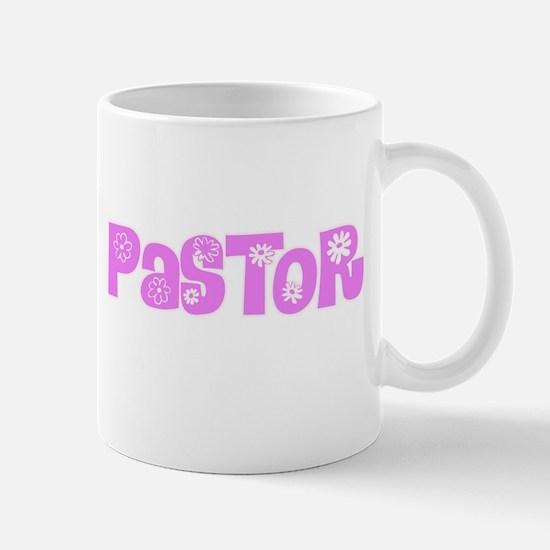Pastor Pink Flower Design Mugs
