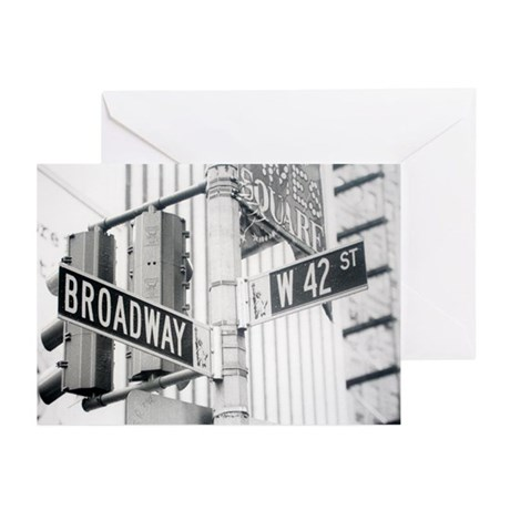 NY Broadway Times Square - Greeting Cards (Pk of 2