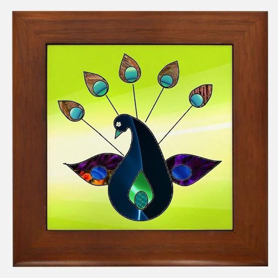 Smoky Peacock Framed Tile