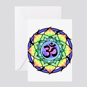 aum-rainbow Greeting Cards