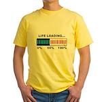 Life Loading Yellow T-Shirt