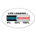 Life Loading Oval Sticker