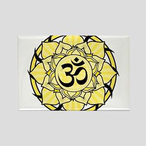 Aum Lotus Mandala (Yellow) Magnets
