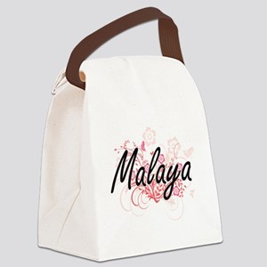 Malaya Artistic Name Design with Canvas Lunch Bag
