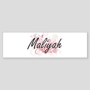 Maliyah Artistic Name Design with F Bumper Sticker