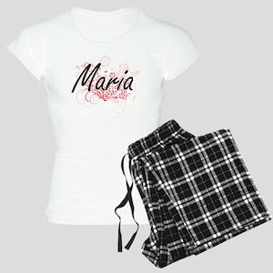 Maria Artistic Name Design Women's Light Pajamas
