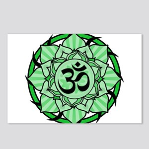 aum-green Postcards (Package of 8)
